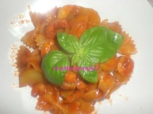 farfalle zucchina e gamberetti