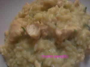 risotto con pollo alla fricassea