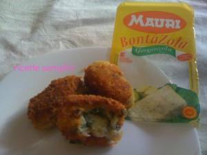 crocchette di patate e tonno ripieni di gorgonzola