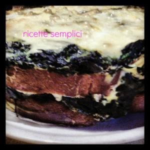 torta di pane con spinaci e pecorino fresco